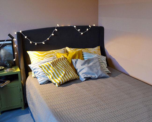 Eklektyczna sypialnia