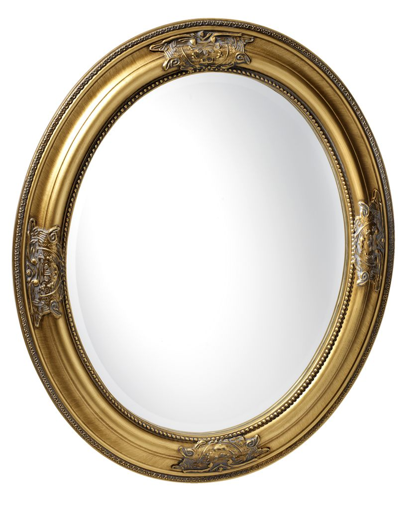 Lustro RUDE 52x62cm owalne złote