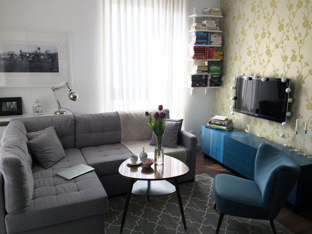 Sofa i miejsce na telewizor