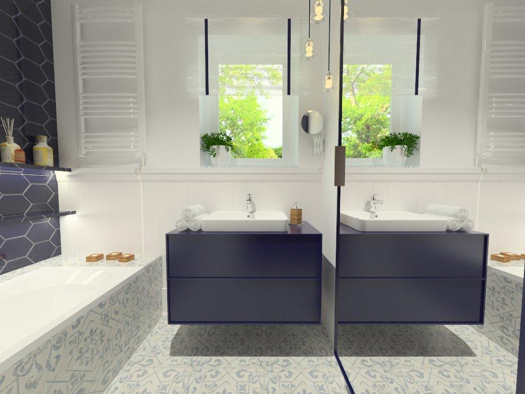 Łazienka w trzech wersjach kolorystycznych