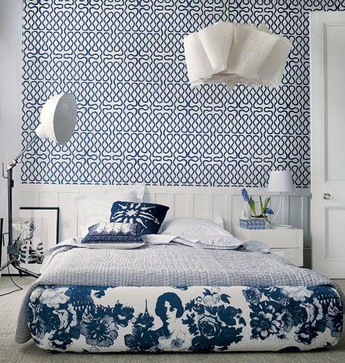 biało niebieska wypialnia
