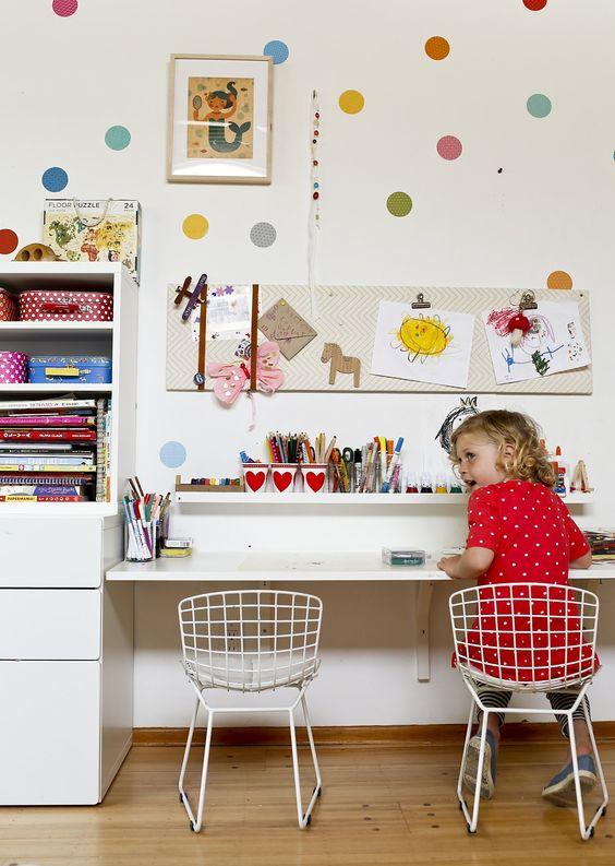 biurko dla dziewczynki i krzesło druciak
