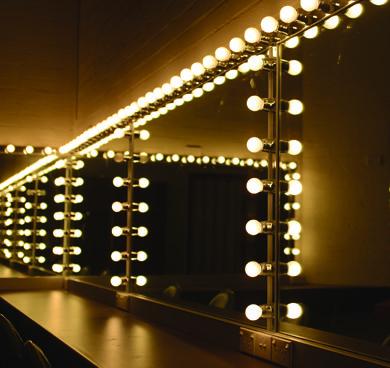 lustro podświetlone jak w teatrze