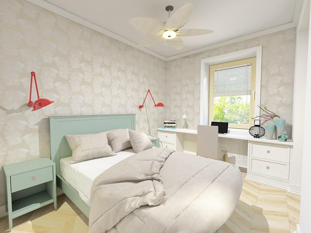 Projekt sypialni z zabudową na wymiar