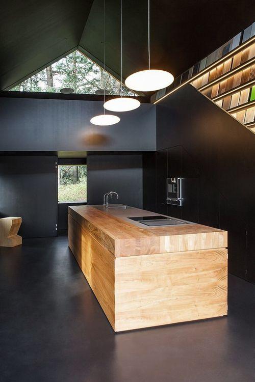 projekt mieszkania czarnego