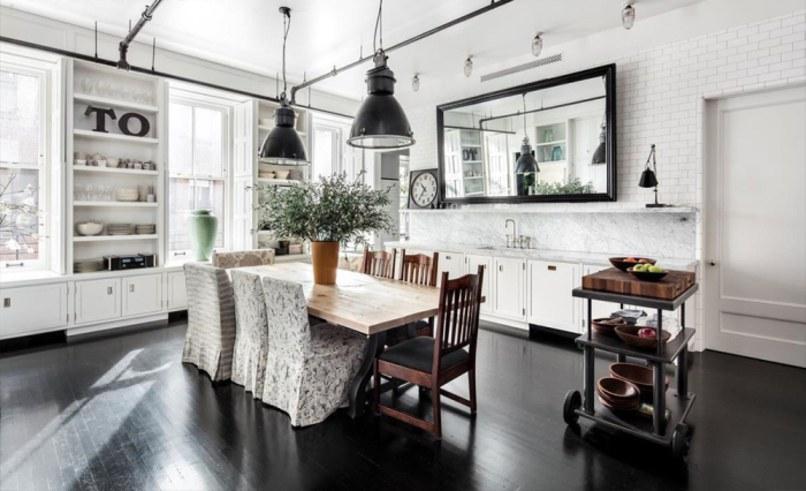 Projekt apartamentu kuchnia