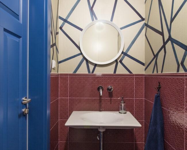 Geometryczna toaleta