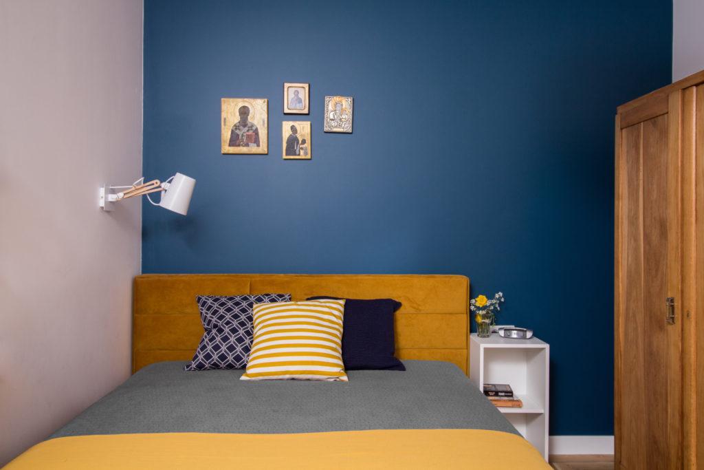 Tapicerowane łóżko