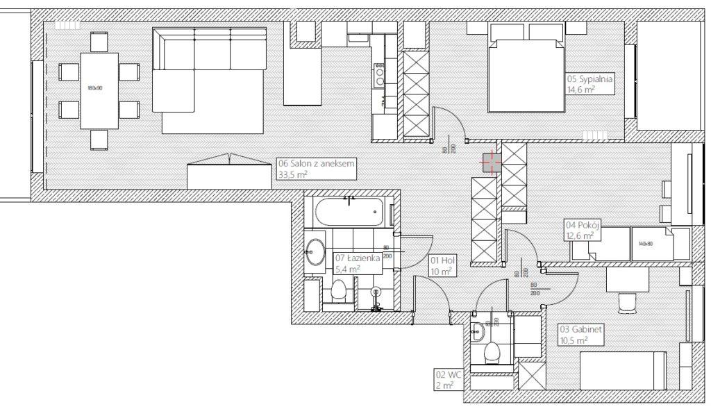 Apartament po zmianach