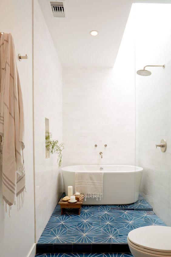 eklektyczna łazienka