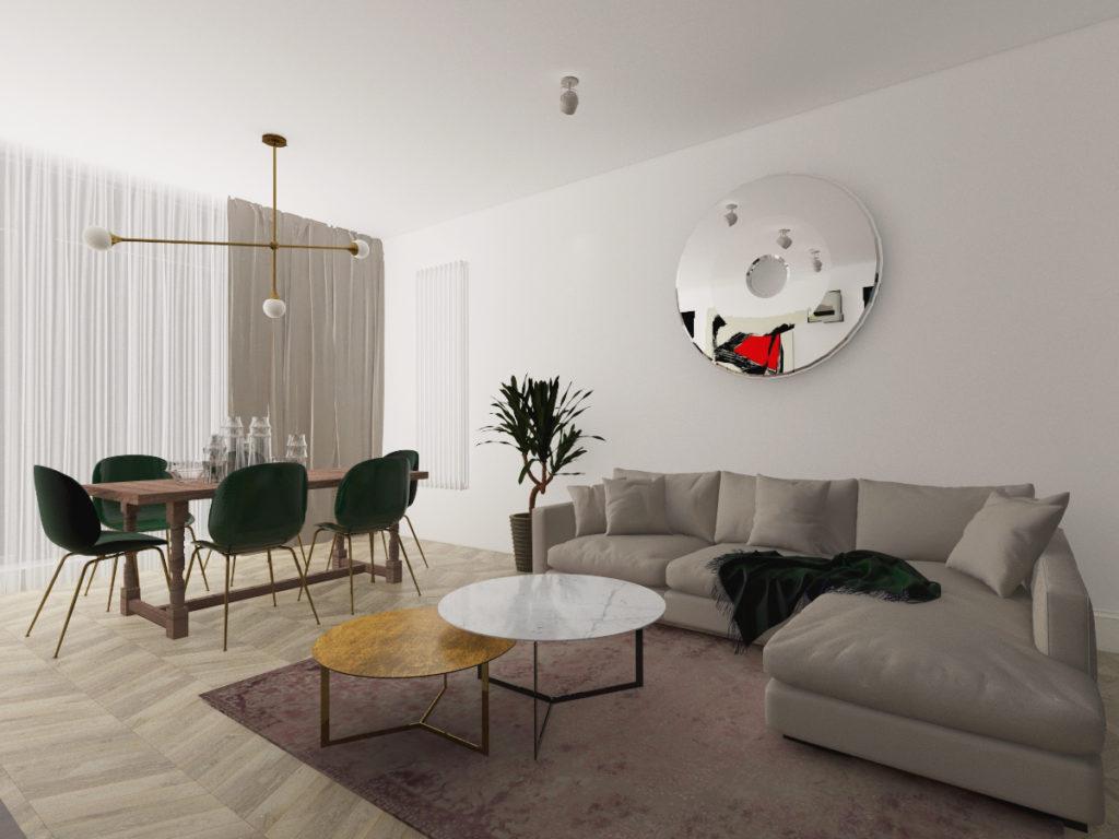 aranżacja apartamentu na wilanowie