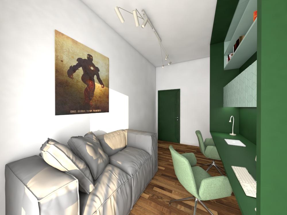 Gabinet w apartamencie