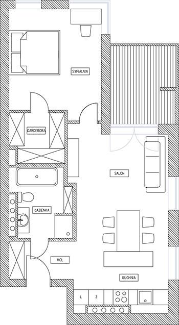 Projekt apartamentu wilanów