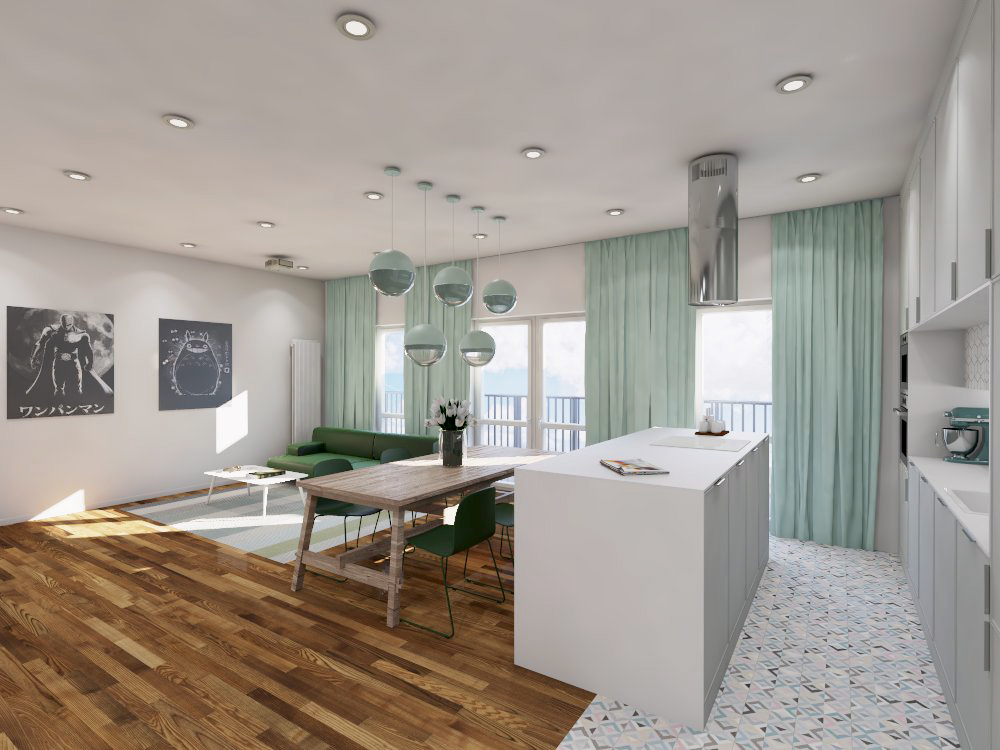 Projekt apartamentu na Mokotowie