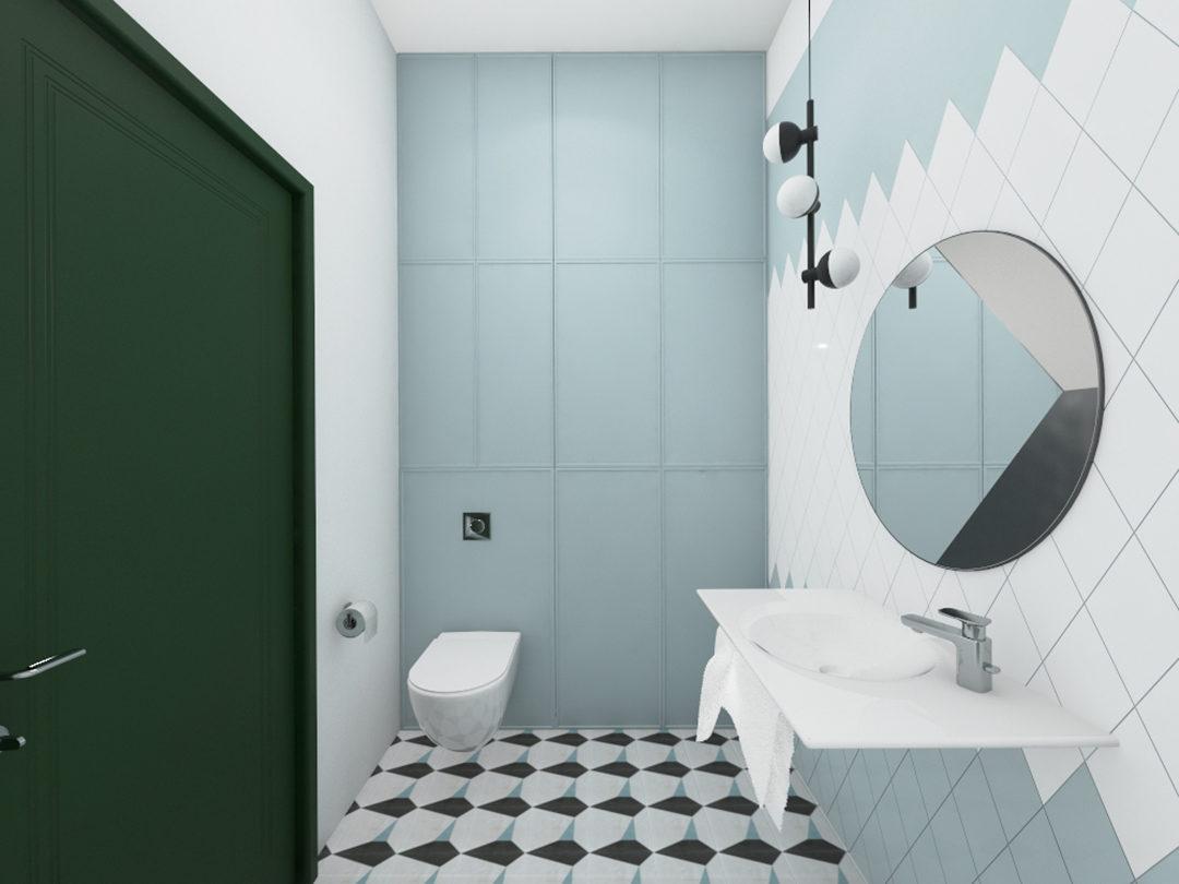 Geometryczna łazienka