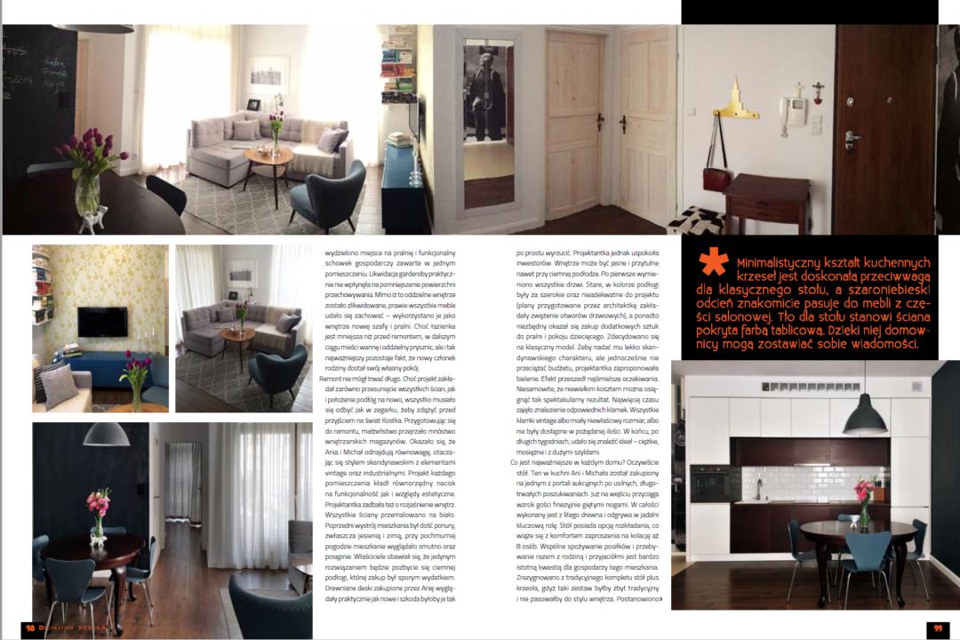 publikacja w luksusowym magazynie wnętrzarskim