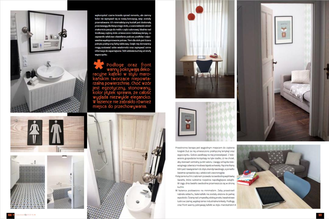 publikacja w luksusowym magazynie o wnętrzach
