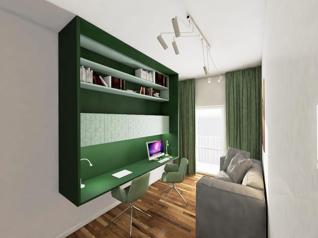 Gabinet w kolorze zielonym