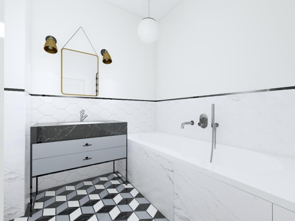 Projekt architektury wnętrz łazienka