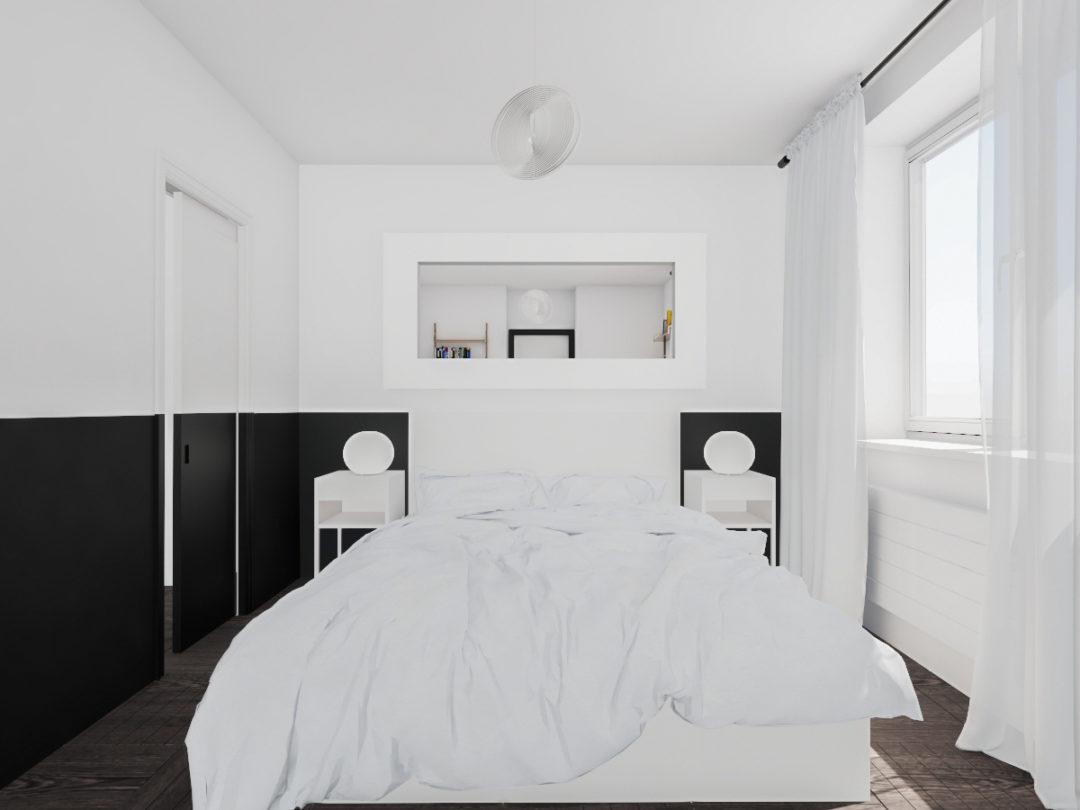 Modernistyczna sypialnia