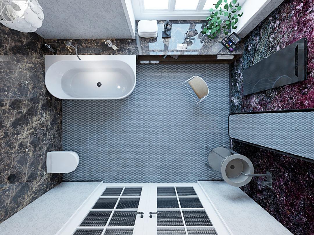 układ łazienki