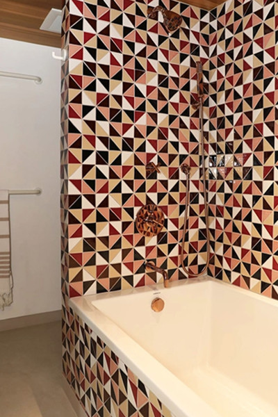 projekt łazienki retro