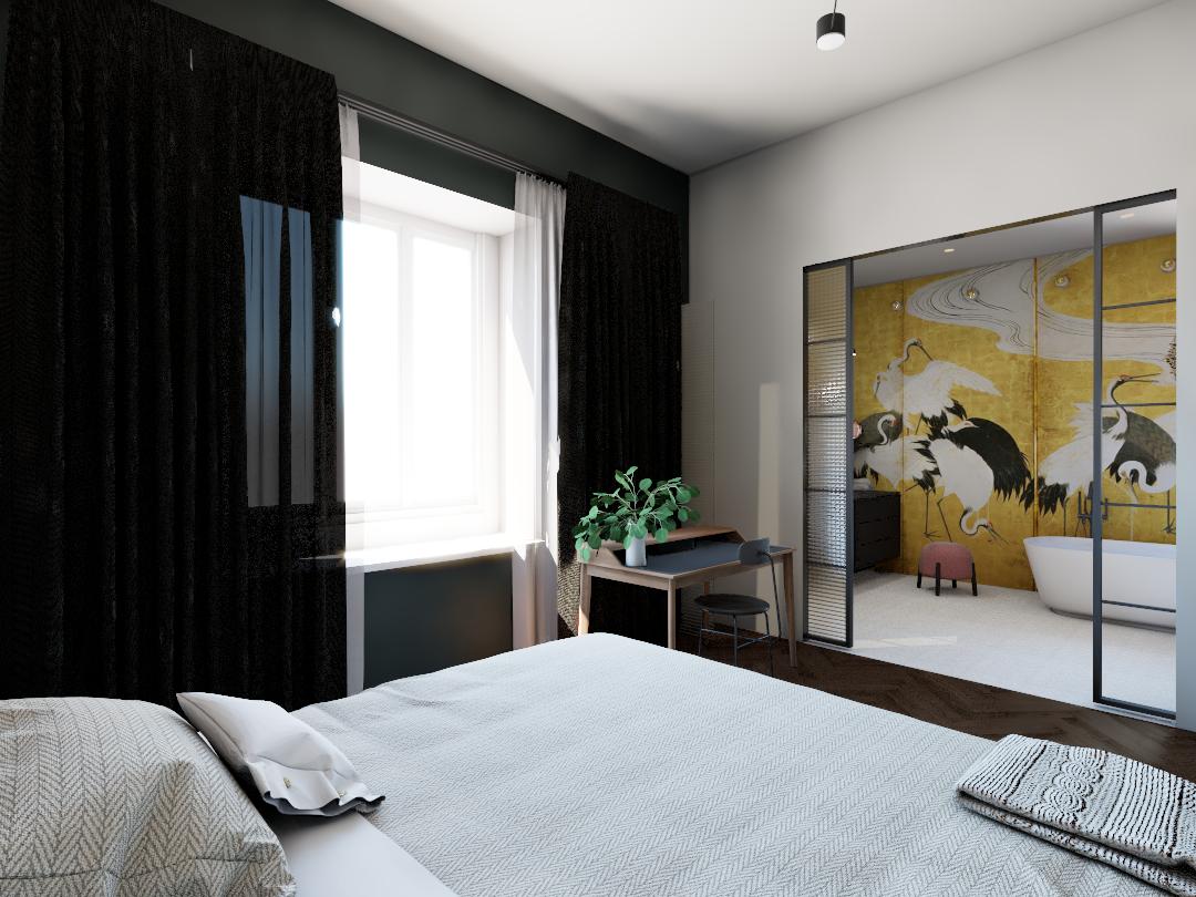 projekt sypialni śródmieście