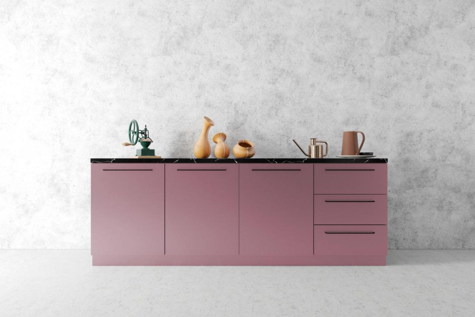 projekt różowej kuchni