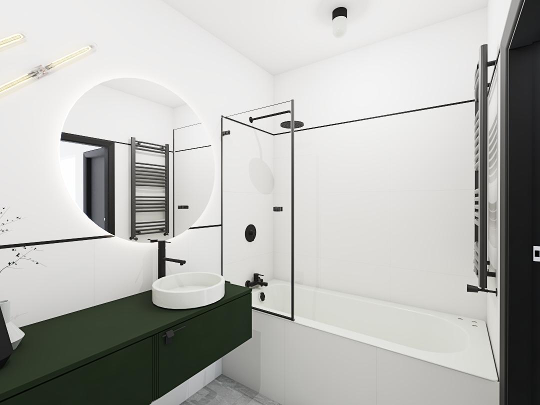 Projekt łazienki z wanną