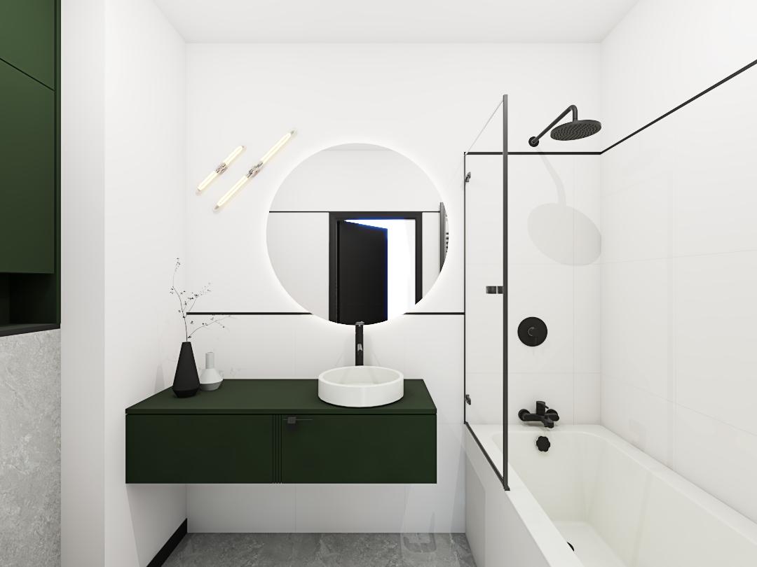 Projekt białej łazienki