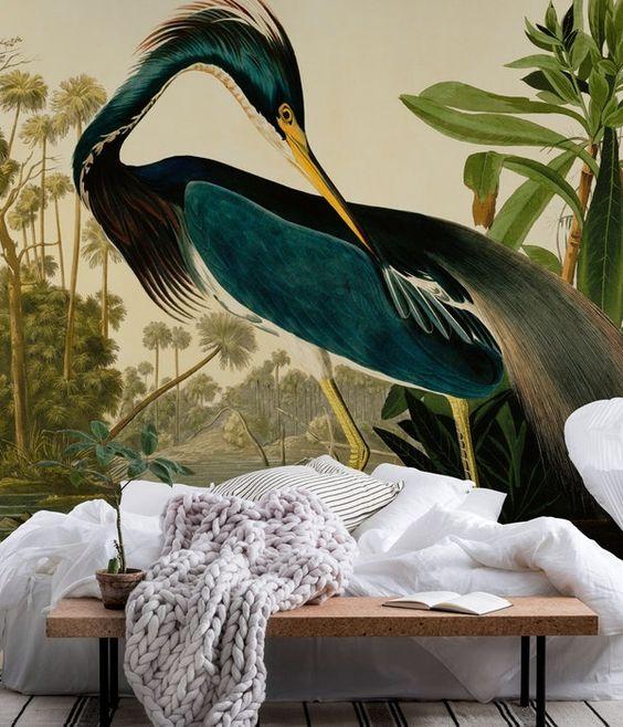 mural ptak