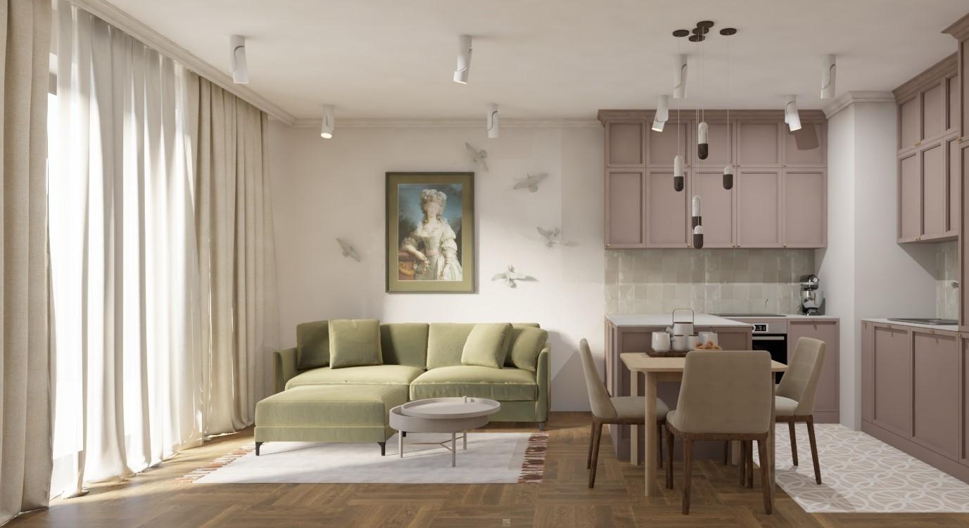 Projekt apartamentu Marina Mokotów