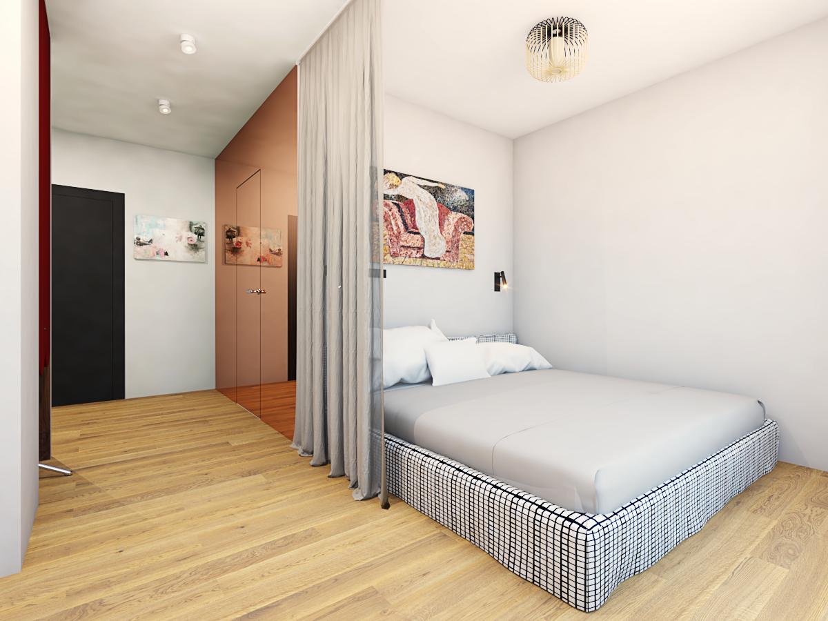 projekt sypialni w Warszawie